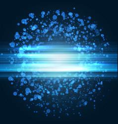 Modern bright blue music club poster vector