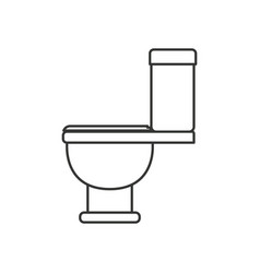 Monochrome silhouette with toilet icon side view vector