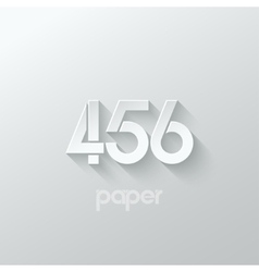 Number four 4 five 5 six 6 logo paper set vector