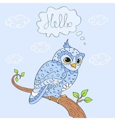 owl hello vector image