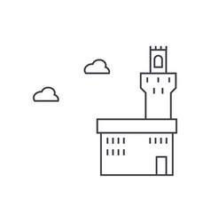 palazzo vecchio line icon sign vector image vector image