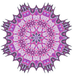 Purple mandala template for decorating vector