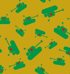 Seamless tank pattern vector image