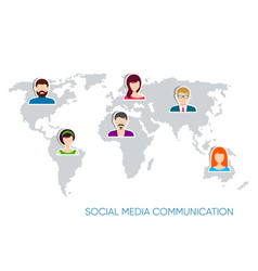 Social media communication vector