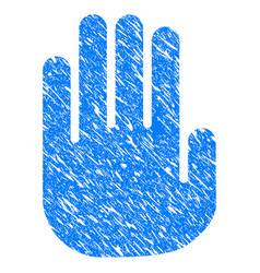 stop hand grunge icon vector image vector image