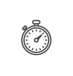 timer line icon stopwatch sign vector image