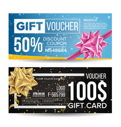 voucher design horizontal discount for vector image