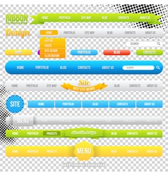 Web menu element templates vector