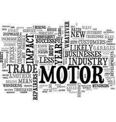 What will hold for the motor industry text word vector
