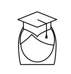 woman with graduation cap icon vector image