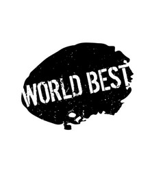 World best rubber stamp vector