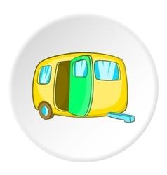 Yellow trailer icon cartoon style vector