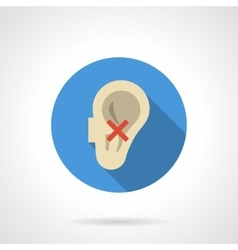 Hearing problems round color icon vector