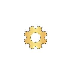 Gearwheel computer symbol vector