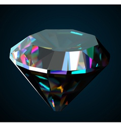 Shiny and bright diamond on a black background vector image