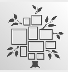 Tree with frames vector