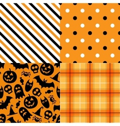 Halloween pattern pack vector