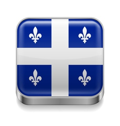 Metal icon of quebec vector