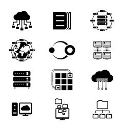 Data storage and cloud services vector