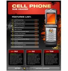 Cellphone brochure vector