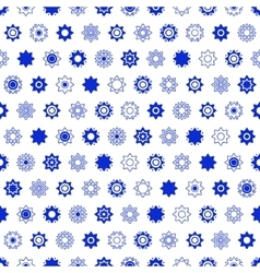 Blue constellation seamless pattern vector