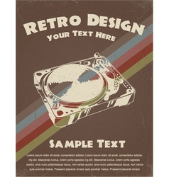 Retro music poster vector