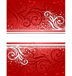 Abstract red-white background vector
