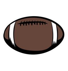 american football icon cartoon vector image