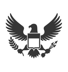 American presidential symbol eagle with shield vector