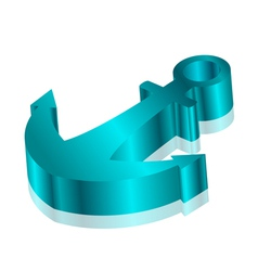 Anchor 3d blue vector image