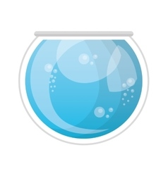 Aquarium glass isolated icon vector
