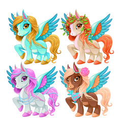baby pegasus for freedom and magic vector image vector image