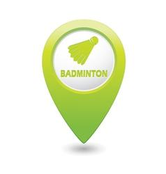 Badminton green map pointer vector