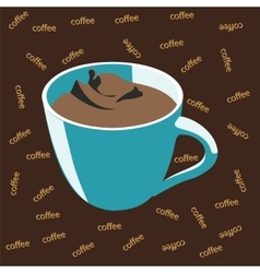 Blue cup of coffee vector image vector image