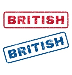 British rubber stamps vector