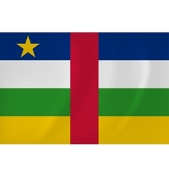 Central african republic waving flag vector