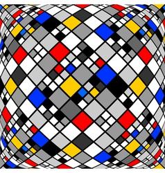 Design monochrome warped diamond mosaic pattern vector