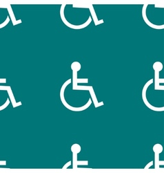 Disabled web icon flat design seamless pattern vector