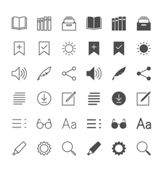 E-book reader icons vector image