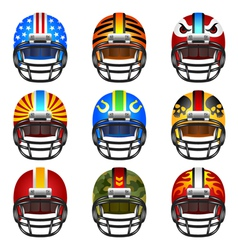 Football helmet set vector image