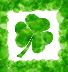 Happy saint patricks day watercolor background vector