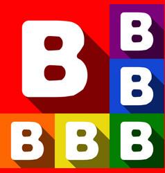 Letter b sign design template element set vector