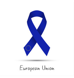 modern colored ribbon european union vector image vector image