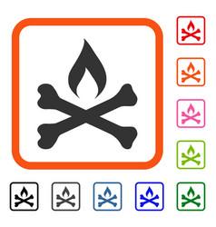 Mortal ignition framed icon vector