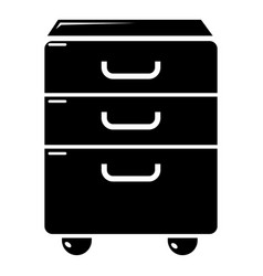 office closet icon simple black style vector image