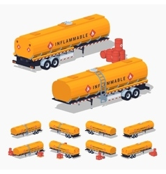Orange fuel tank vector image