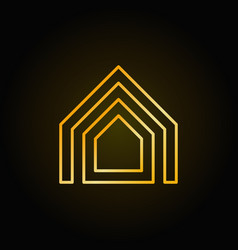 property thin line golden icon vector image vector image