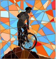 Ridge rider mosaic vector image
