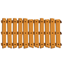 Seamless design of wooden fence vector