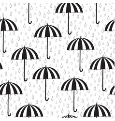 seamless pattern with umbrellas and rain vector image vector image